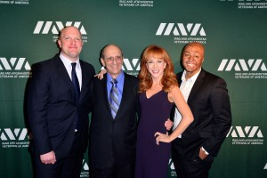 Iraq & Afghanistan Veterans of America (IAVA's) Fifth Annual Heroes Celebration BEVERLY HILLS, CA - MAY 08:  (L-R) CEO and Founder of IAVA Paul Rieckhoff, IAVA Community Leadership Award recipient Ronald A. Katz, IAVA Leadership in Entertainment Award recipient actress Kathy Griffin and actor J.R. Martinez attends IAVA's fifth annual Heroes celebration at Mr. C Beverly Hills on May 8, 2013 in Beverly Hills, California.  (Photo by Jerod Harris/Getty Images for IAVA)