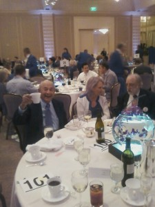 Left to Right is Joe Halper and his Beautiful Wife Arlene, and Mathew Millen, Commander of Jewish War Veterans Post 118 at the 2012 LA County Democratic Awards Dinner.