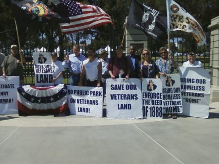 Rosebrock Photo Op Terry Richards Save Our Veterans Land