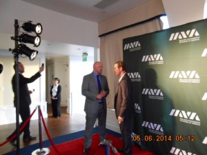 Paul Rieckhoff, Chief Executive Officer and Founder of IAVA and Lone Survivor Director Peter Berg..