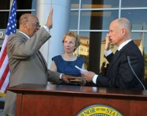Peter Gravett,  being Sworn-in as Secretary of the California Department of Veterans Affairs.