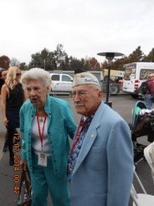 92-year-old Pearl Harbor War Veteran and his Wife.
