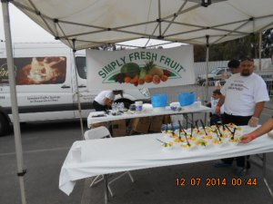 """We would like to thank """"Simply Fresh Fruit"""" found at COSTCO'S for serving all their fruits to about 5,000 Veterans."""