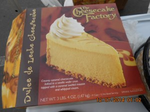 """We want to thank """"The Cheesecake Factory"""" for serving all of their Pies free of charge to about 5,000 Veterans."""