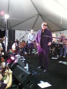 """Jim Belushi and his """"Sacred Hearts Band""""."""