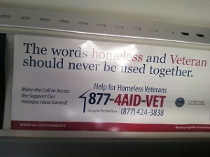 The word homeless and Veteran should never be used together.