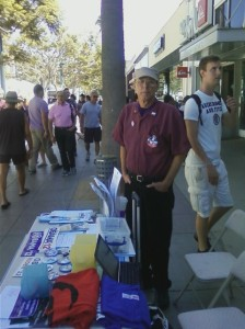 Me selling Obama Campaign Fundraising Memorabilia at the 3rd Street Promenade in Santa Monica Summer of 2012.