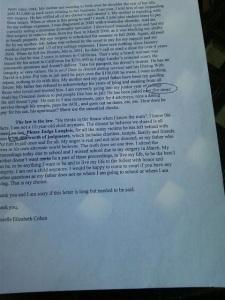 Danielle Cohen letter page 2.