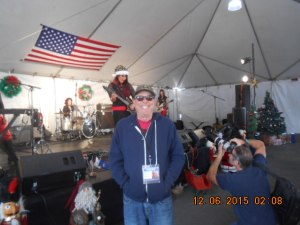 Veterans News Service Los Angeles Columnist Terry Richards at 23rd Annual Veterans Holiday Celebration December 06, 2015.