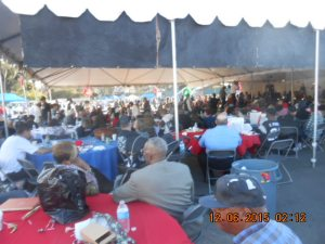 Hundreds of Veterans and their guests enjoying all day musical performances.