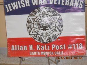 JWV Post 118 sign