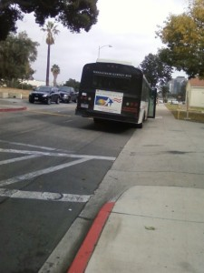 Gurney Bus parks to drop off and pick up Nursing Home Patients then has to hurdle at least one speed bump after leaving.